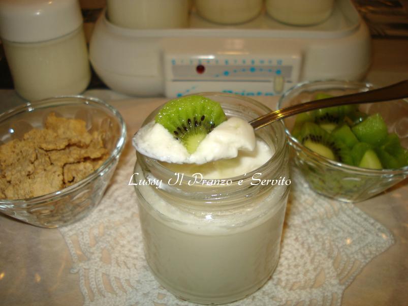 Pranzo Yogurt Magro : Yogurt al naturale fatto in casa lussy il pranzo è servito