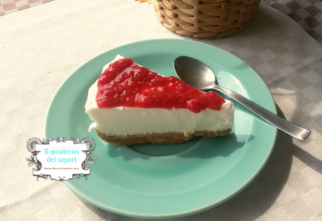 Torta allo yogurt greco e lamponi