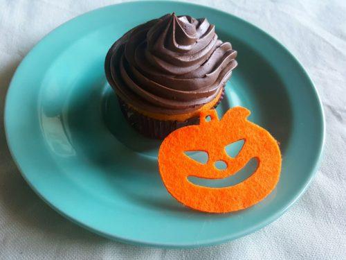 Cupcake alla zucca e cioccolato fondente