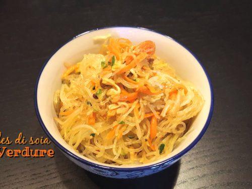 Noodles di soia con verdure
