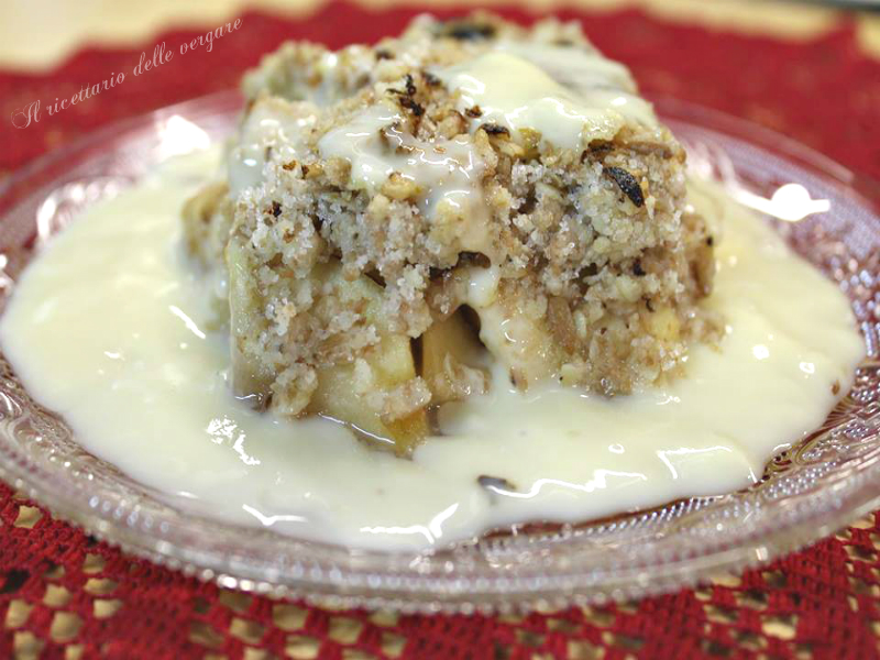 APPLE CRUMBLE dolce inglese