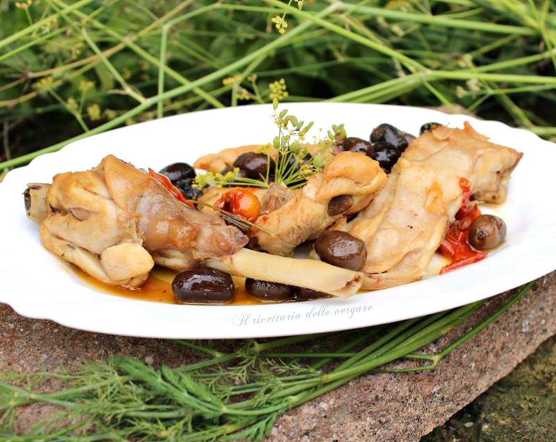 coniglio alle olive nere
