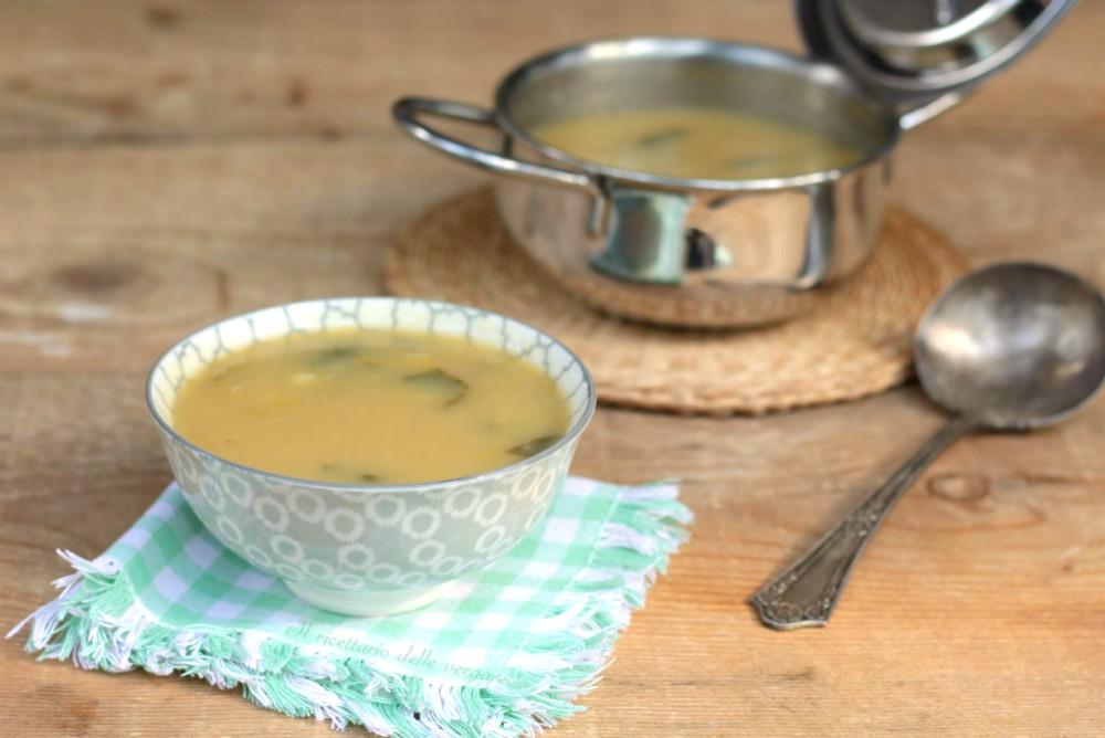 Zuppa di porri patate e prezzemolo