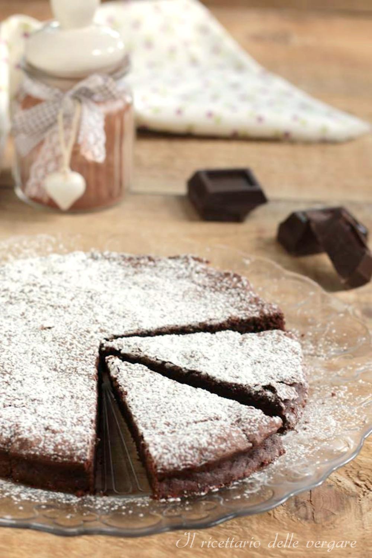 Torta fondente cioccolato e ricotta