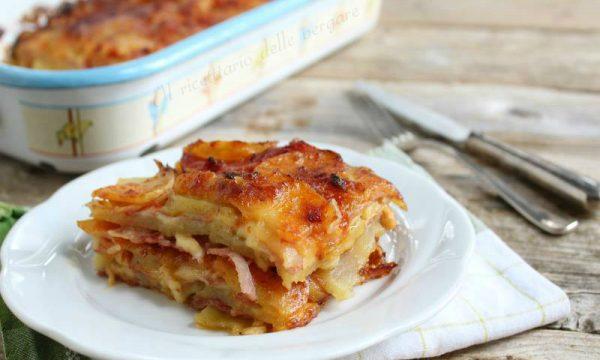 Tortino di patate e formaggio al forno