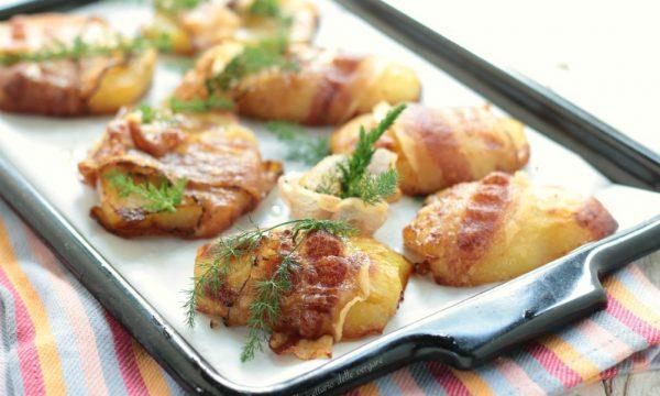 Fette di patate farcite al finocchietto