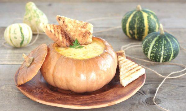 Zuppa di  zucca e formaggio
