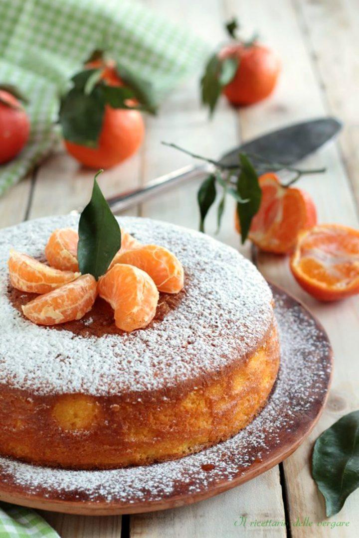 Torta soffice con mandarini frullati