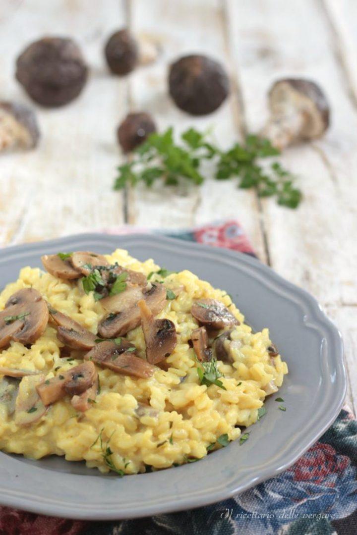 Risotto con i funghi champignon
