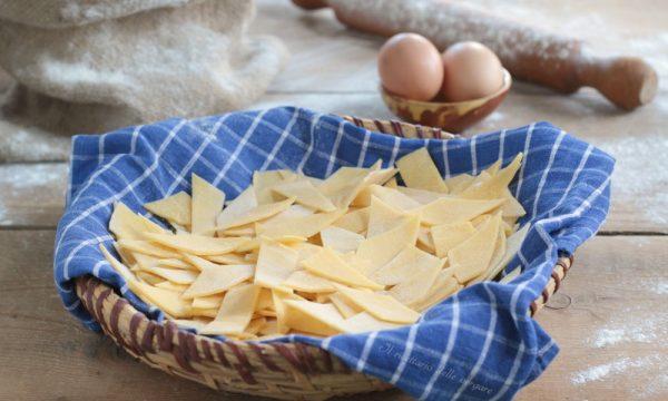 Maltagliati con uovo fatti in casa