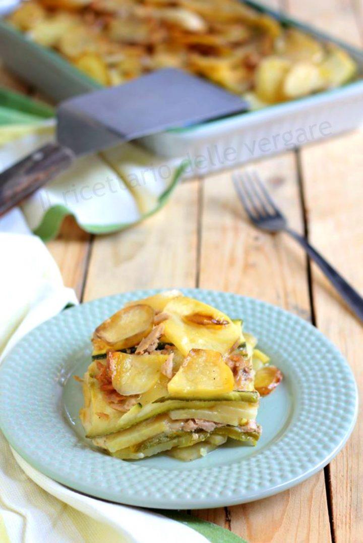 Sformato di patate zucchine e tonno