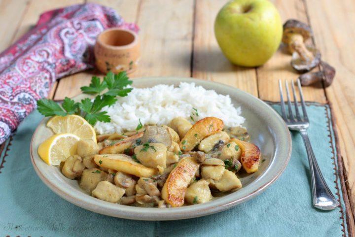 Pollo al curry con le mele