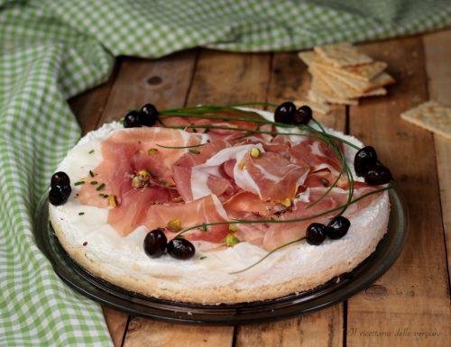 Cheesecake salata prosciutto e formaggi