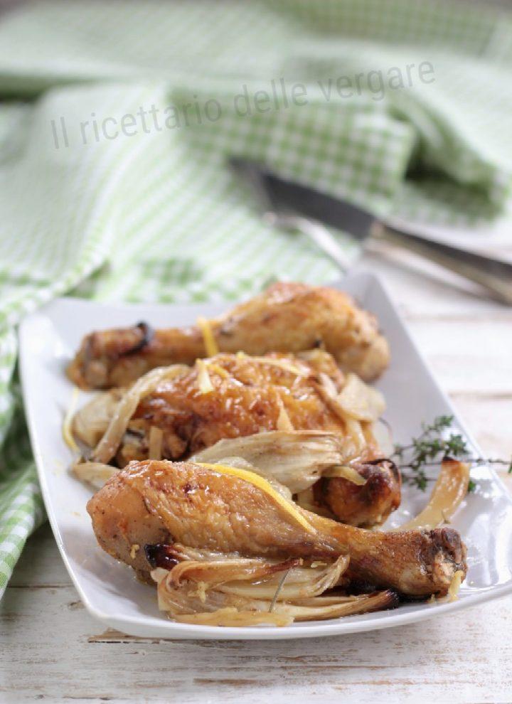 Pollo arrosto con finocchi e limone