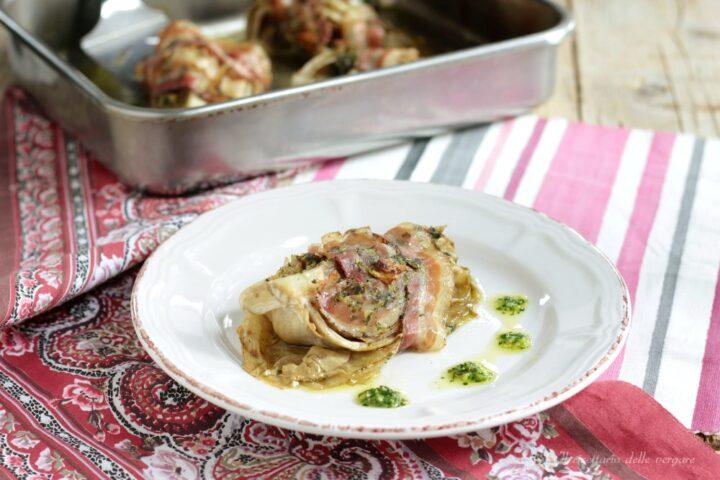 Radicchio con pancetta e salsa verde