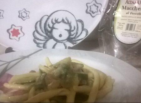Maccheroni al ferretto con zucchine