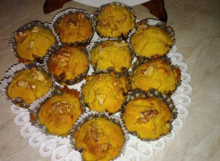 Muffin salati zucca e noci