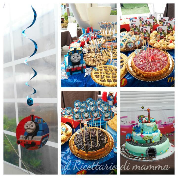 Trenino thomas festa a tema il ricettario di mamma for Decorazioni torte trenino thomas