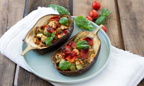 Melanzane ripiene di verdure