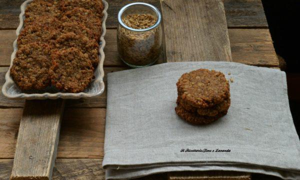 Biscotti con okara di avena decorticata