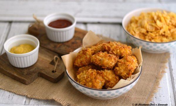 Pepite di pollo croccanti al forno