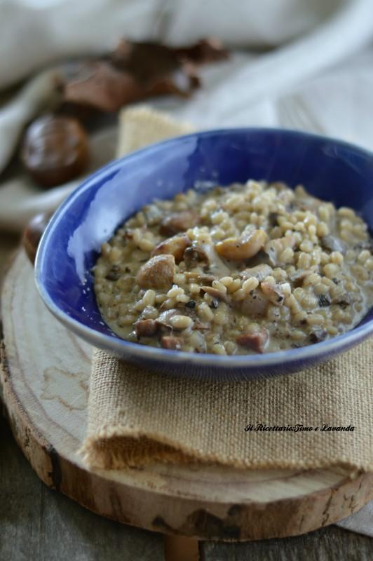 Orzotto funghi, castagne e tartufo