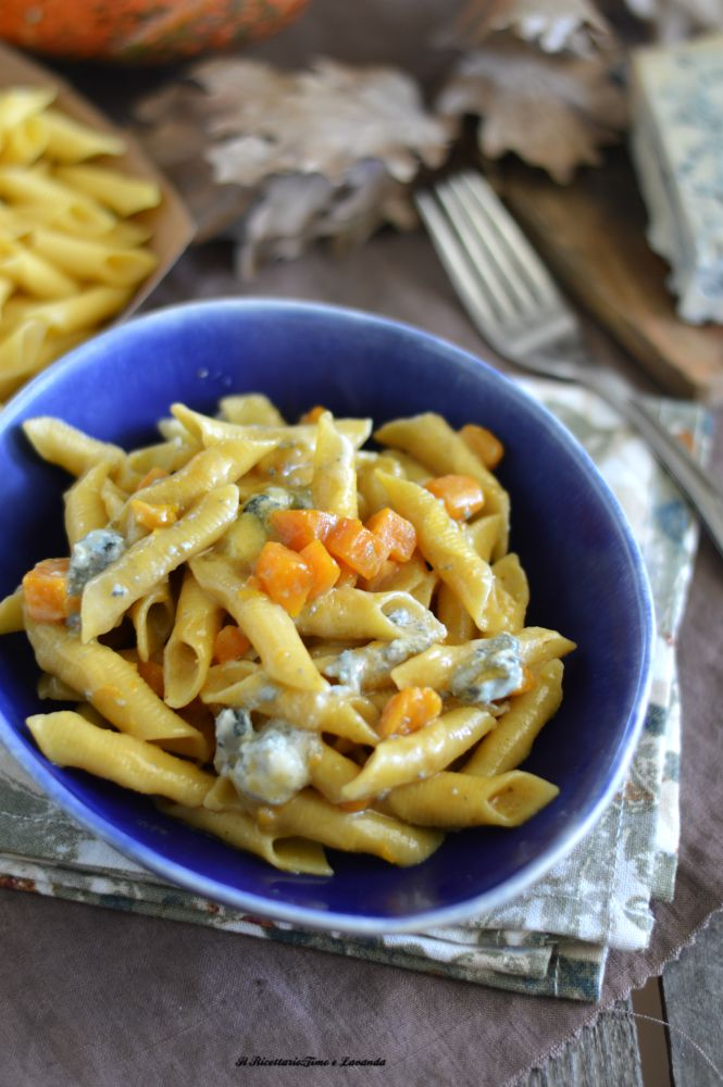 Pasta zucca e gorgonzola