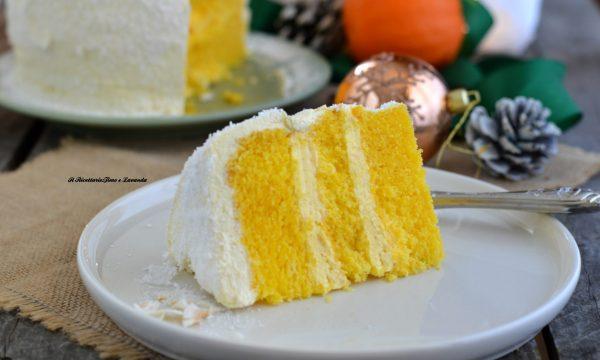 Chiffon cake all'arancia farcita