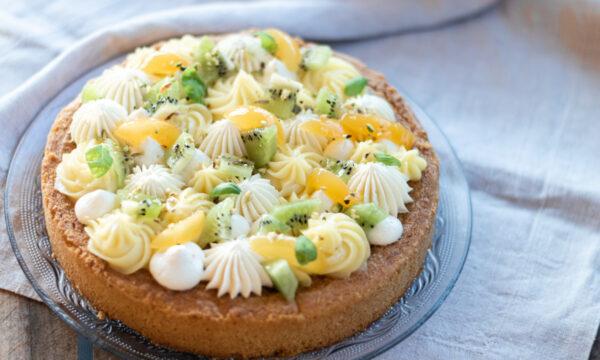 Crostata frangipane al pistacchio e frutta fresca