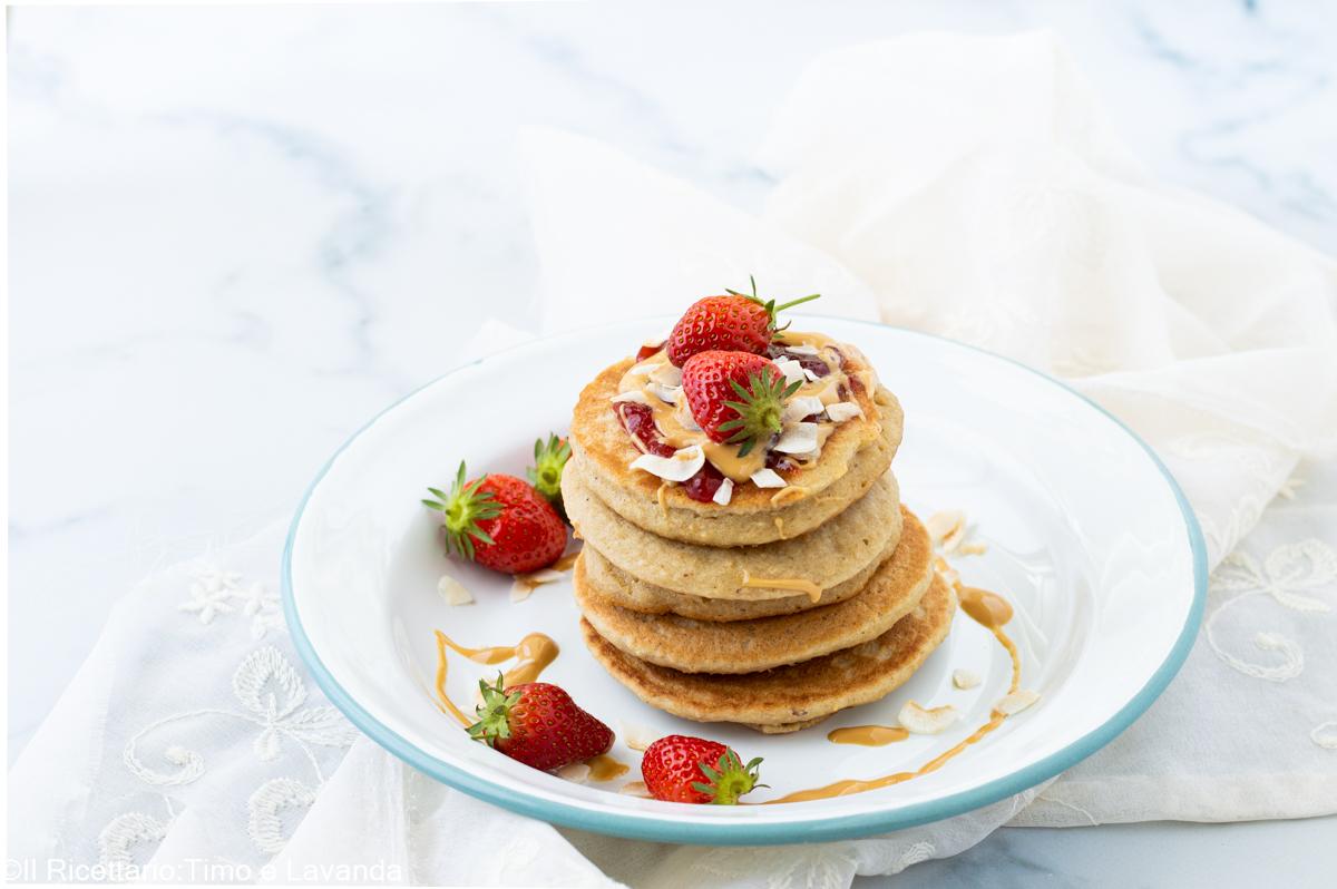 pancakes al burro di arachidi