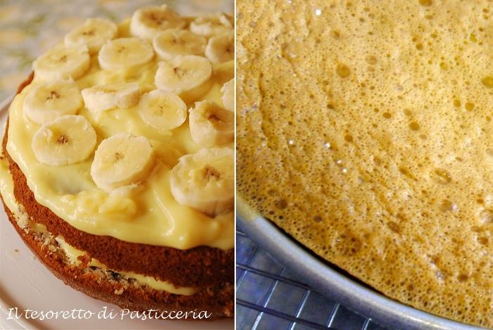 Torta alla crema di banane
