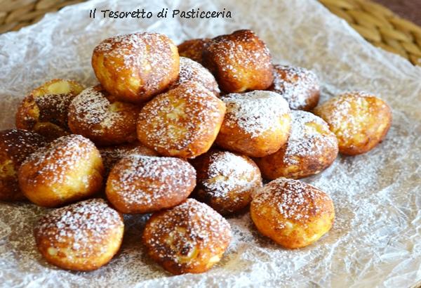 Quadratini di ricotta dolce fritta