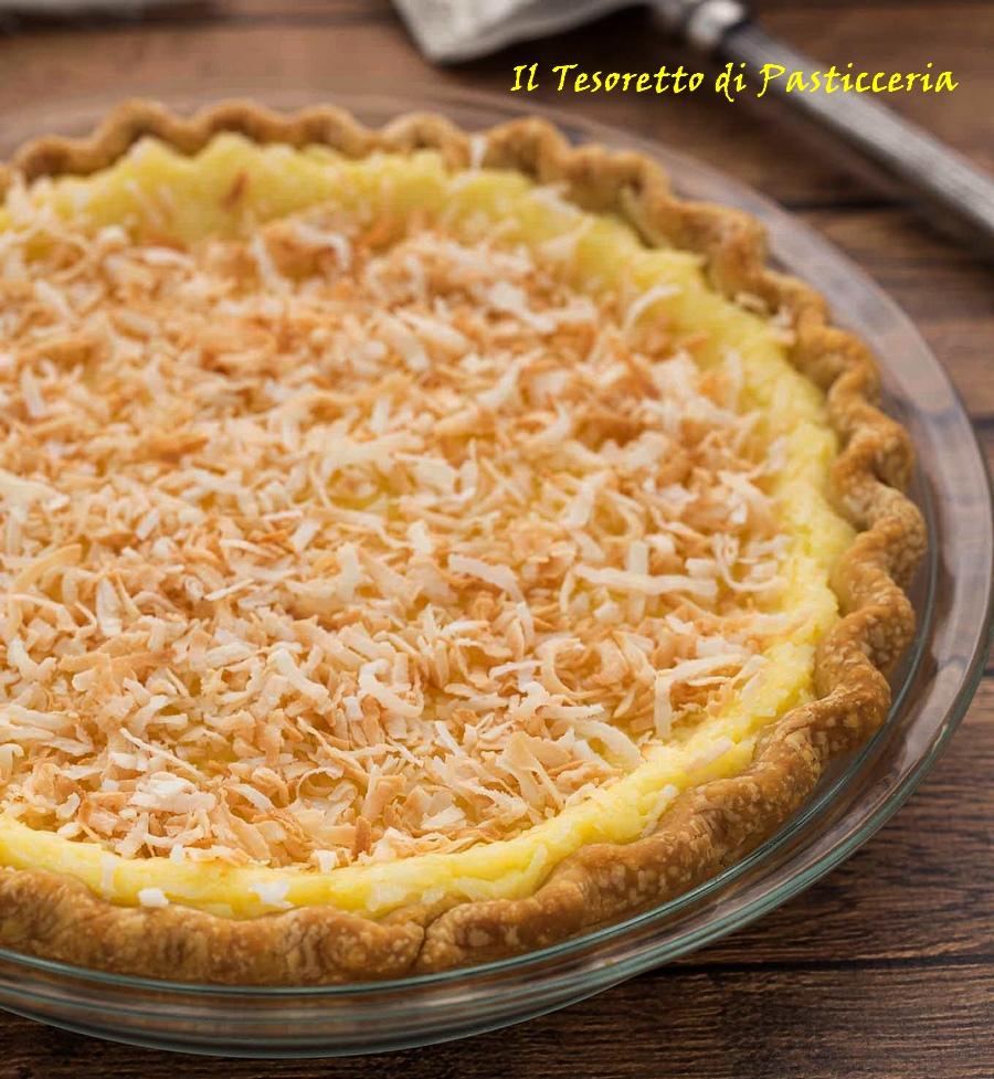 Crostata in pasta frolla alla crema di cocco