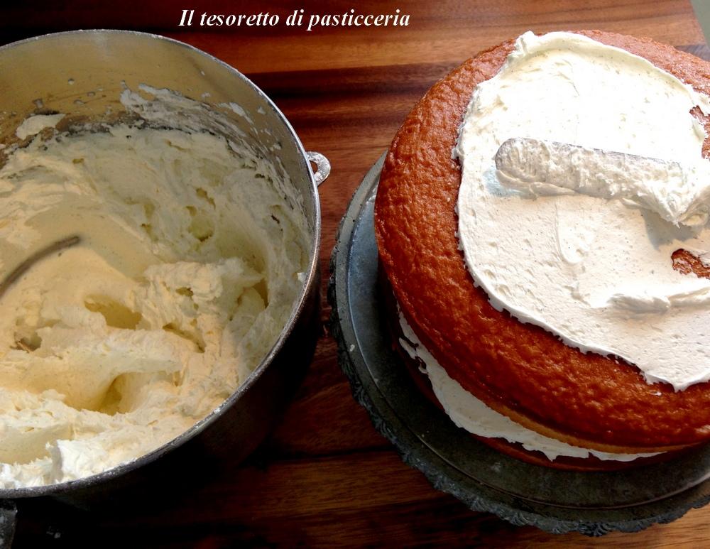 Come farcire e decorare una torta con la panna montata