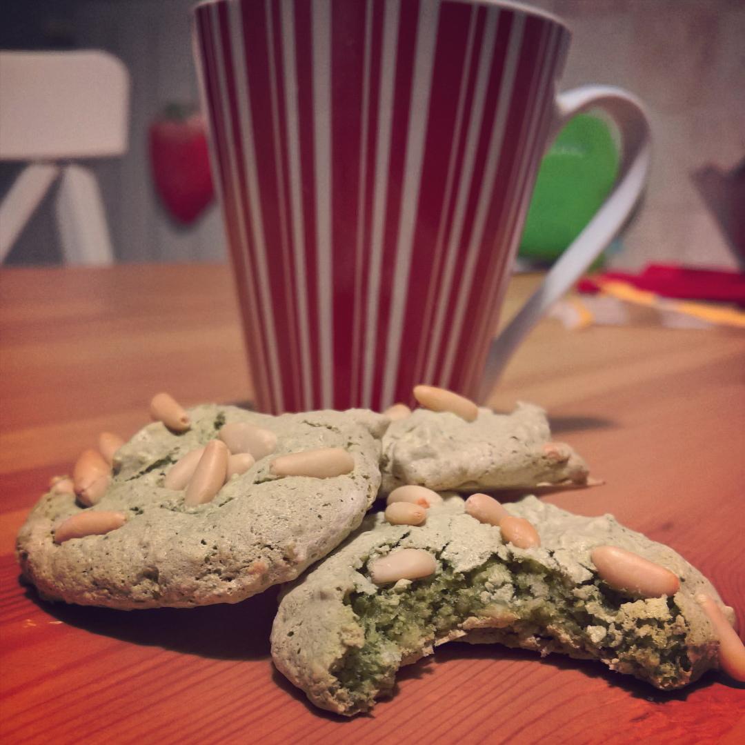 Tè Matcha - Cookies al Tè Verde, Mandorle & Pinoli