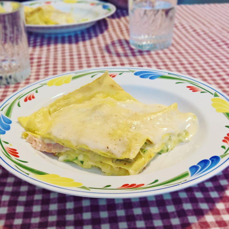 Provola - Lasagne Bianche di Zucchine, Speck & Provola