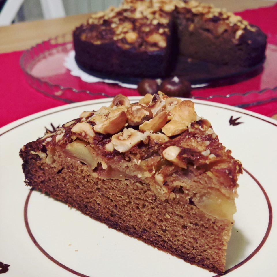 Castagne, Mele & Nocciole per una torta veloce e buonissima