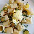 Paccheri allo zabaione salato e zucchine
