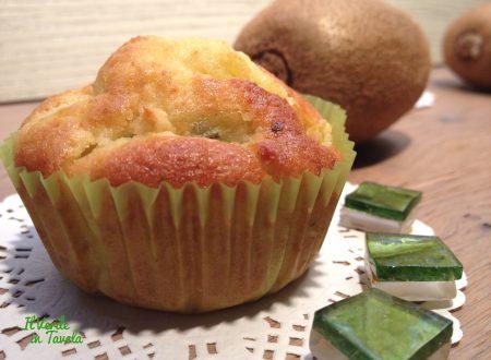 Muffin con kiwi morbidissimi