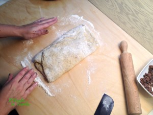 panettone basso vegano con uvetta e mandorle9