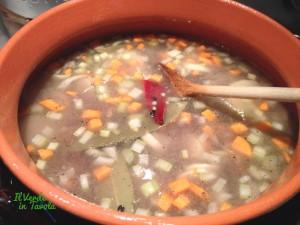 zuppa di grano saraceno, lenticchie nere e patata dolce8