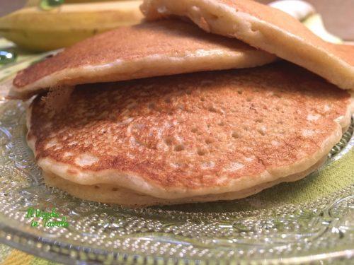Pancakes vegani alla banana