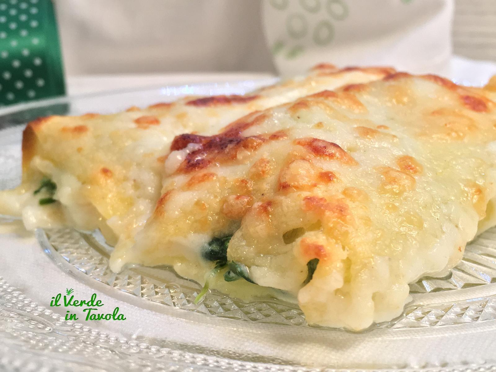 Cannelloni spinaci, gorgonzola e ricotta