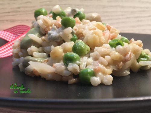 5 cereali fave, piselli e gorgonzola