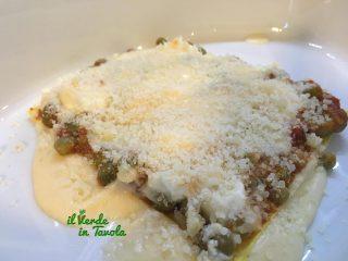 Lasagne piselli, fave e formaggi