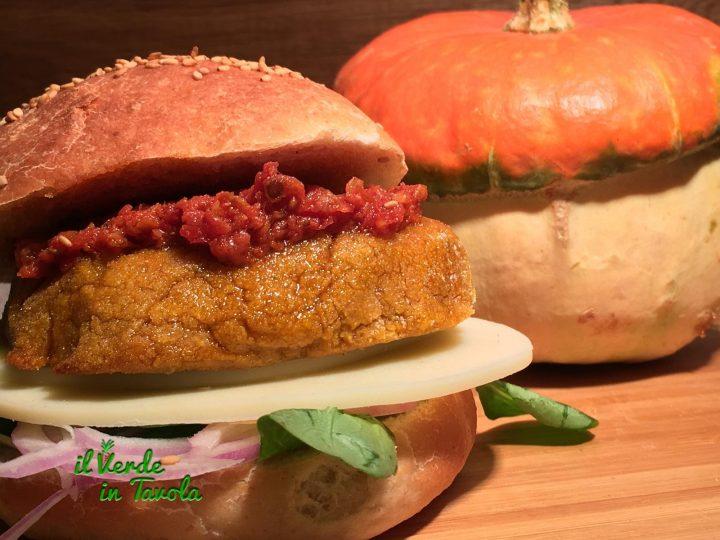 Burger di zucca e lupini