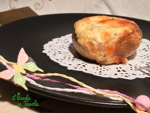 Funghi champignon ai formaggi gratinati al forno – videoricetta