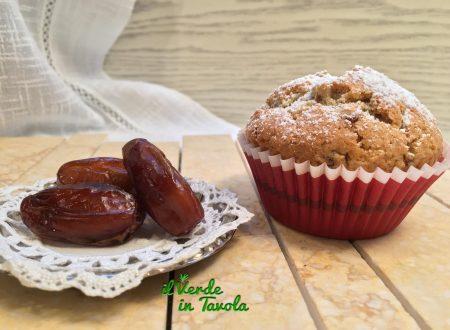 Muffin vegani con datteri e pinoli