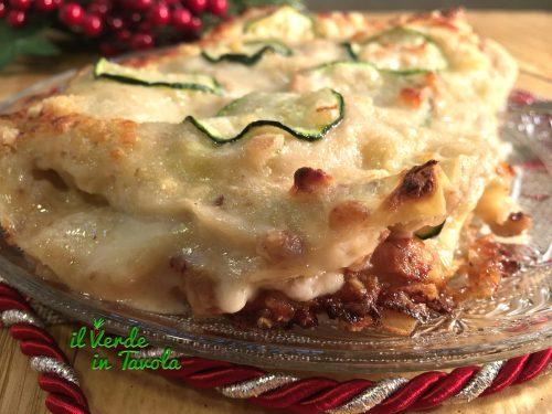 Lasagne alle zucchine, con gorgonzola, mascarpone e noci