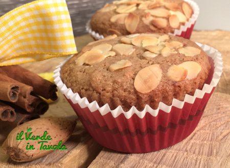 Muffin vegani con mandorle, zenzero e cannella
